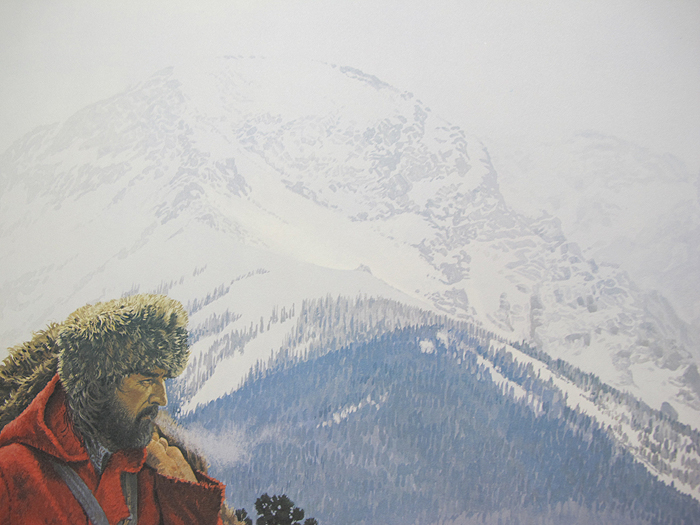 Vintage david wright signed mountain man colorado crossing for David wright signature