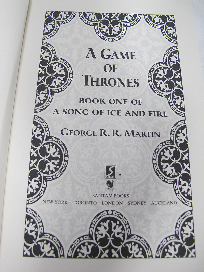 first game of thrones book pdf