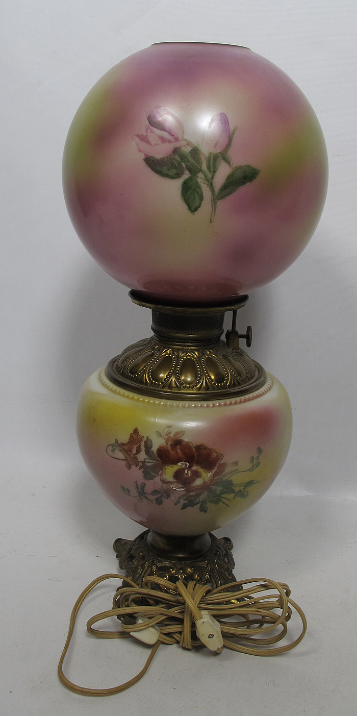 Victorian Era Gwtw Gone With The Wind Parlor Oil Lamp