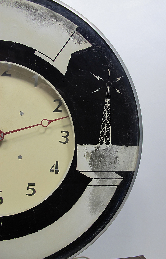 Antique 1950 39 S Light Up Wall Clock Sign By Radio Co